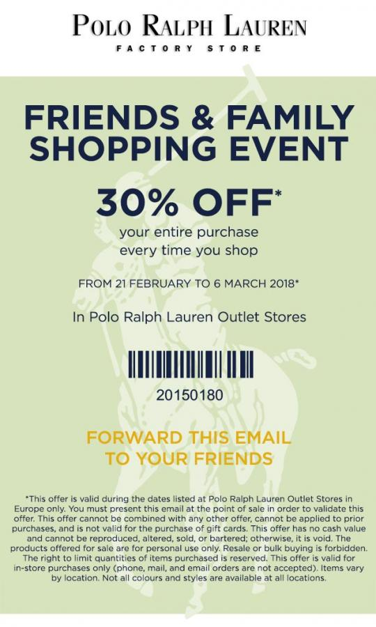 Polo Ralph Lauren | 20% off when you buy 3 items or more. Polo Ralph Lauren  | Outlet Shopping ...
